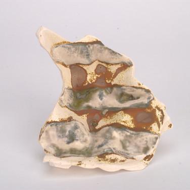 Vanadium Pentoxide + White Glaze