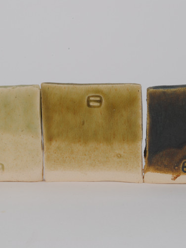 ^6 Copper Carb and Black Red Iron Oxide Line Test with Crystalline Matte Surface