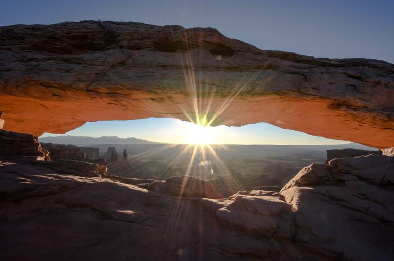 Mesa Arch window