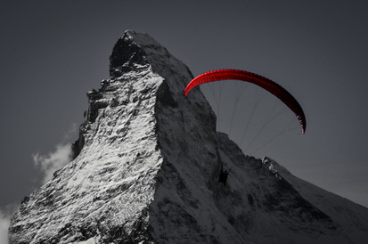 Mattherhorn and Parasailer