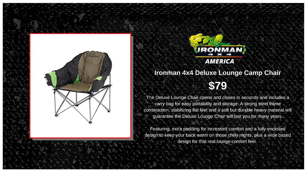 Itonman 4x4 Deluxe Lounge Camp Chair