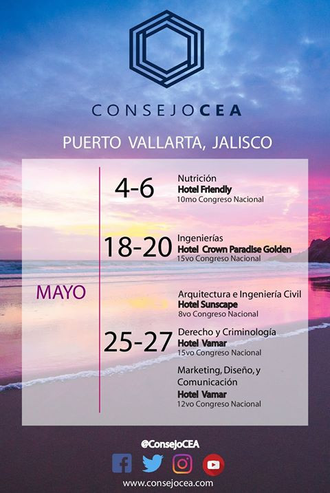 Los invitamos a nuestros Congresos Puerto Vallarta Mayo 2018