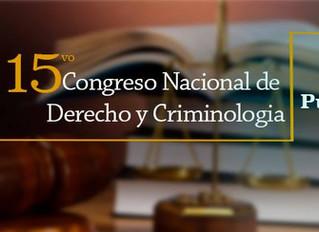 15vo Congreso Nacional de Derecho y Criminología