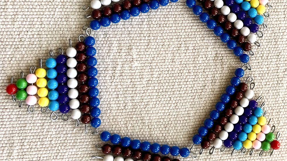 Estrela de contas coloridas (Color beads star)