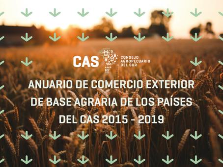 Anuario de Comercio Exterior de base agraria de los países del CAS 2015-2019