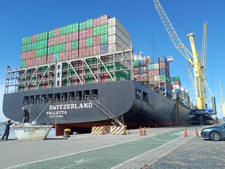 En cuatro meses el costo de los fletes China-Uruguay pasó de 500 a 4300 dólares por contenedor de 40