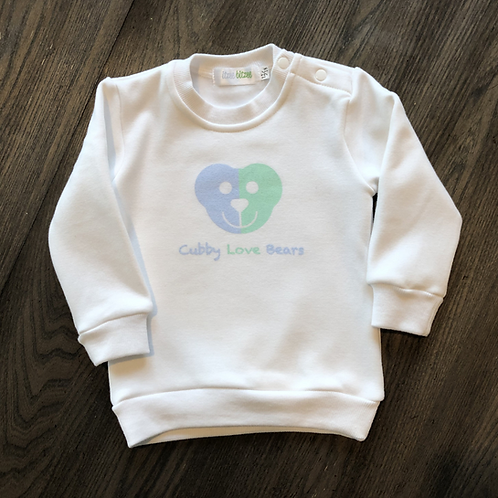 Cubby Love Bear Logo-Graphic Pullover Sweatshirt