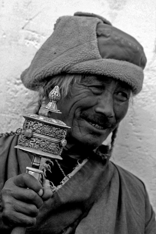 Nomade presso lo Tsomoriri lake (Rupshu valley, Ladakh – India, agosto 2013)