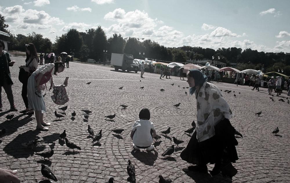 La piazza è di tutti (Sergiev Posad – Russia, agosto 2017)