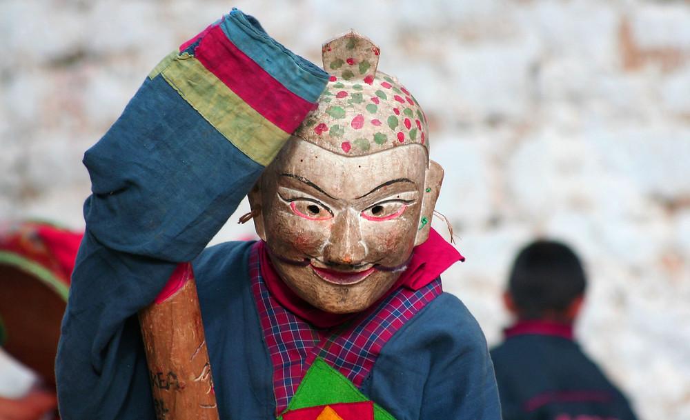 """Il """"fool"""" delle danze sacre (Bhutan – novembre 2008)"""