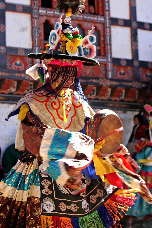 Danzatore nella valle di Chumey  (Bhutan – novembre 2008)