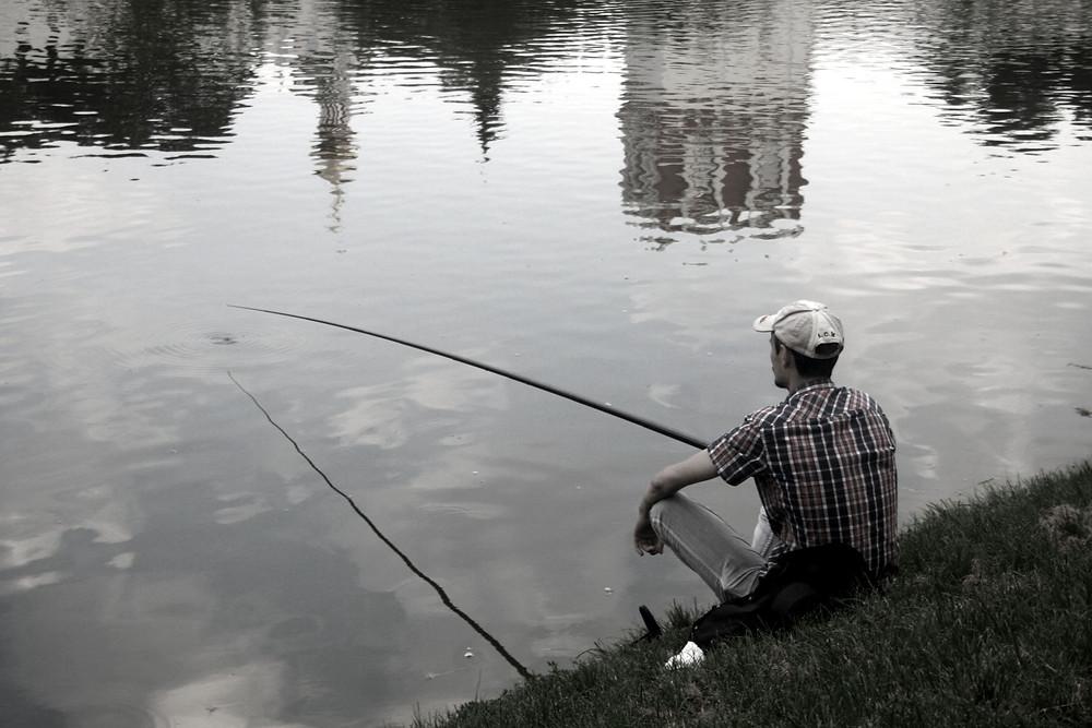 Pescatore di fiume (Mosca – Russia, agosto 2017)