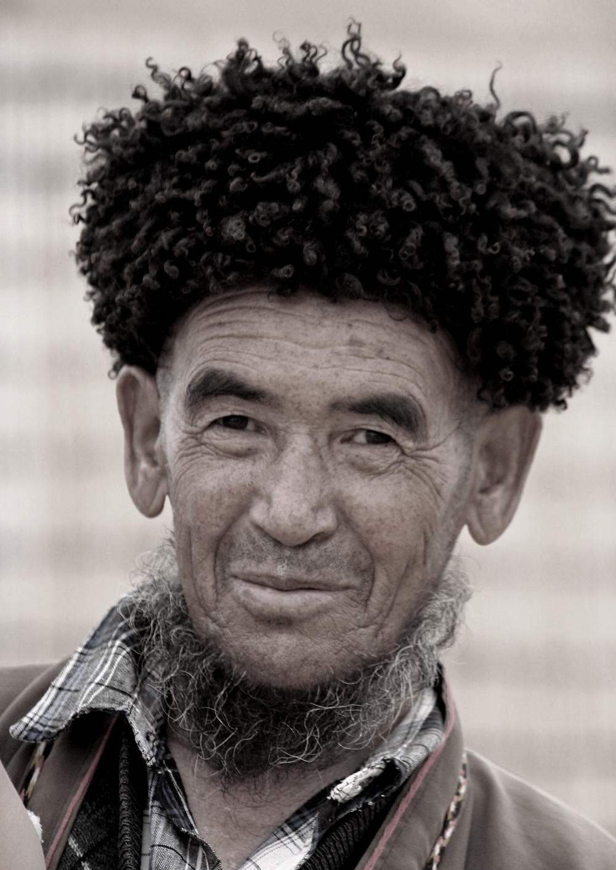 Uomo di Chaarli, sperduto villaggio un tempo tappa della Via della Seta (Turkmenistan, aprile-maggio 2016)