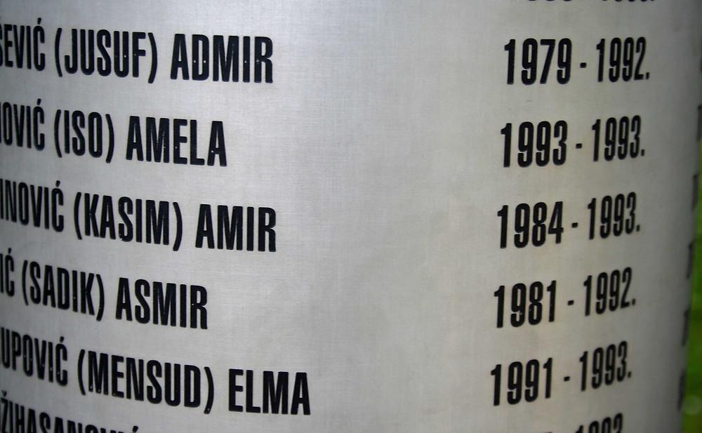 Memoriale dei bambini uccisi durante l'assedio di Sarajevo 1992-1995 (Sarajevo – Bosnia-Erzegovina, aprile/maggio 2019)