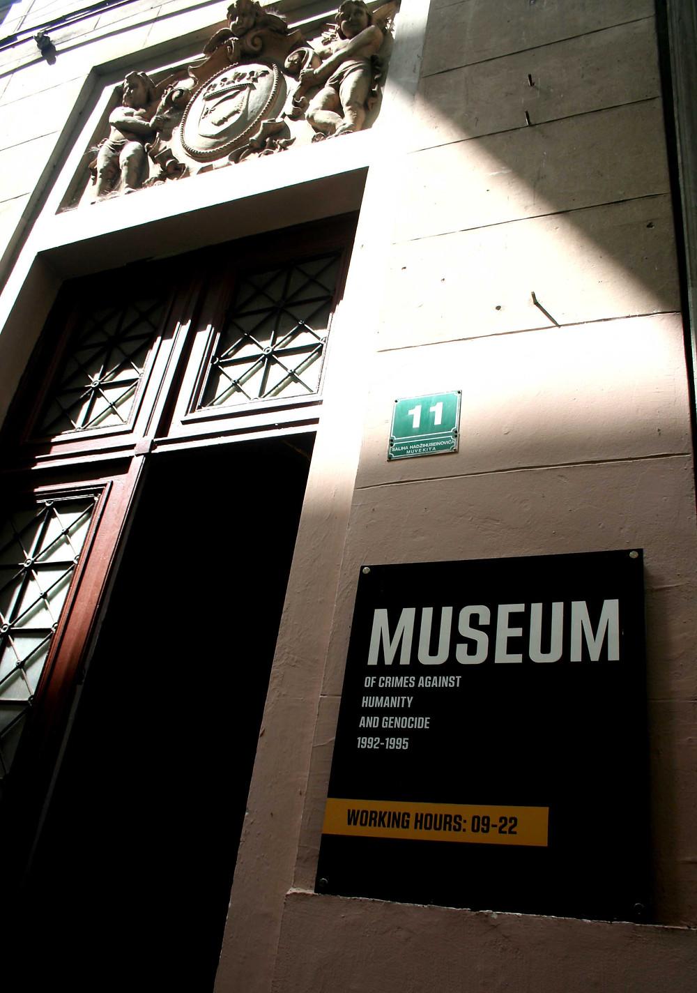Museo dei crimini contro l'umanità e del genocidio 1992-1995 (Sarajevo – Bosnia-Erzegovina, aprile/maggio 2019)