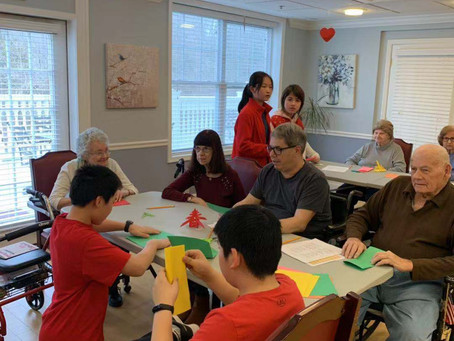 Chinese New Year Music and Crafts 2019 at Chelsea Bridgewater Senior Living Center