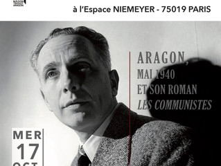 Soirée : Aragon, mai 1940 et son roman Les Communistes