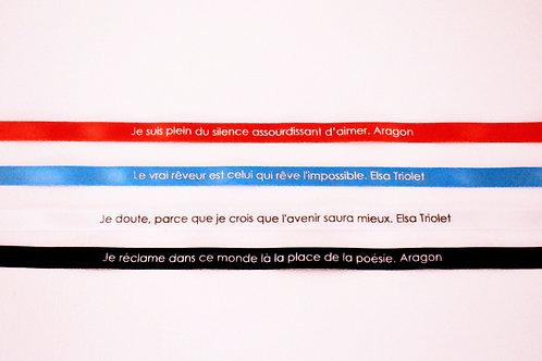 Bracelets rubans citations