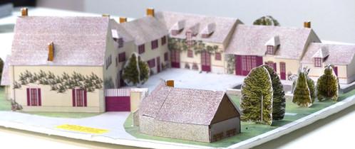 maquette construire du moulin de villeneuve