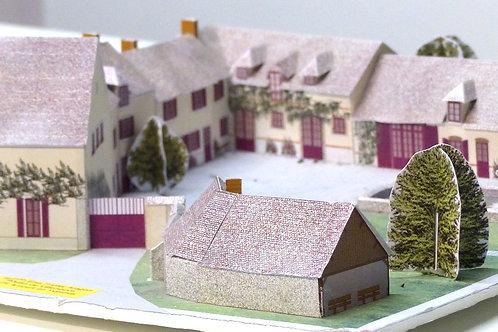 Maquette à construire du moulin de Villeneuve