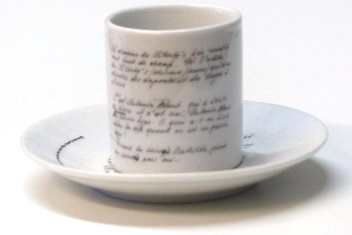 Tasse Manuscrit Elsa Triolet