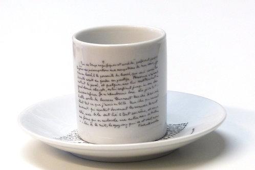 Tasse Manuscrit Louis Aragon