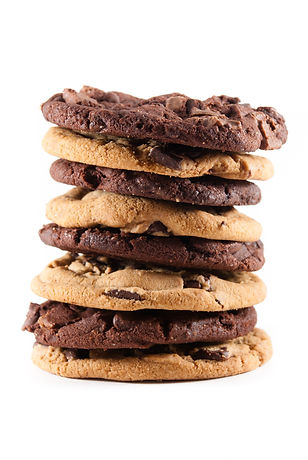 pile of choco chip and double choco cook