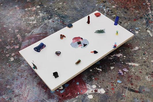 griffin gallery studio residency installation_acrylic on wood_66x8x6cm_Feb 2018