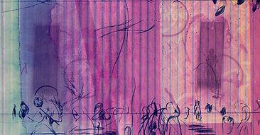 Drypoint etching on inkjet print, 2017 (15 × 28 cm)