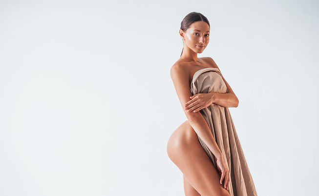standing-and-covering-body-by-cloth-beau