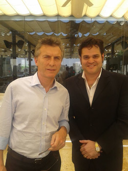 With Macri in Israel