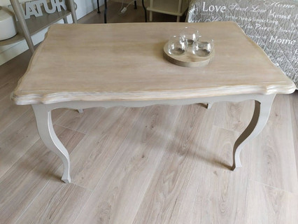 Table basse Shabby chic relookée