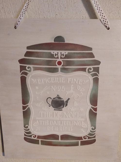 Cadre thé de Noël