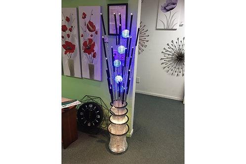 Flower Lamp LED LG Black Bullrush Round Base