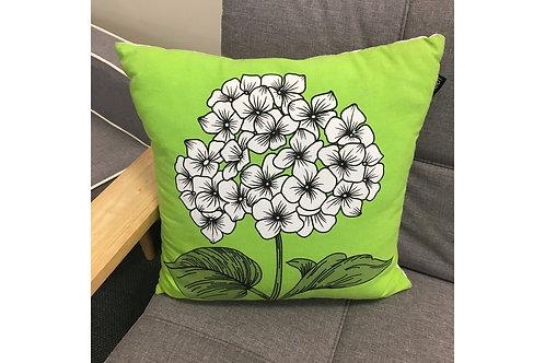 Hydrangea Print Cushion