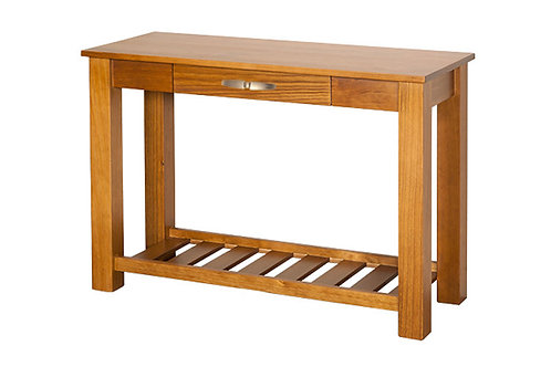 Charlton Hall Table with Rack & Drawer
