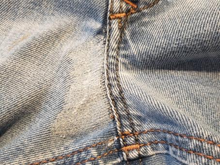 ストレッチジーンズの修理