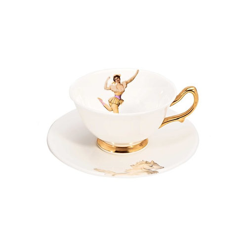 MISS ROSE FINE BONE CHINA TEACUP AND SAUCER