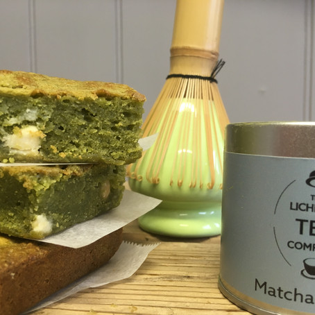 MARVELLOUS MATCHA AND WHITE CHOCOLATE BLONDIE RECIPE