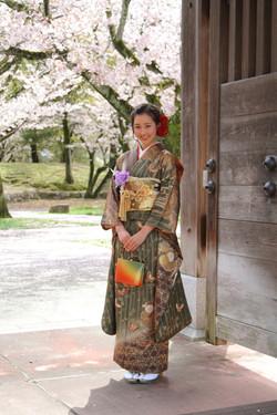 自然撮影 出張撮影 成人式 ロケ 公園 桜
