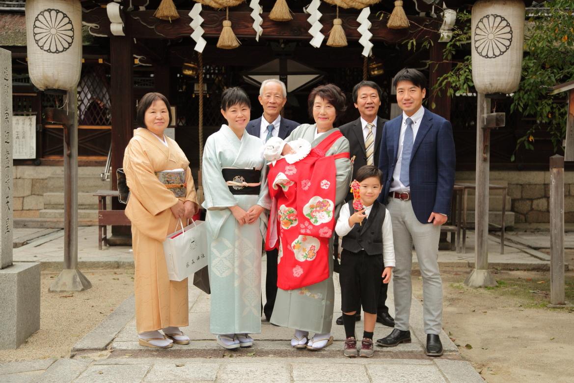 京都出張撮影 出張撮影あおぞら 京都お宮参り撮影 家族写真出張撮影