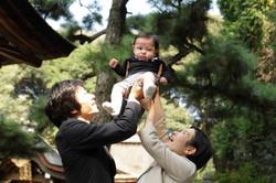 お宮参り 赤ちゃん お祝い 家族写真 出張撮影
