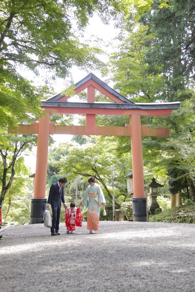 日吉大社の山王鳥居 滋賀県神社