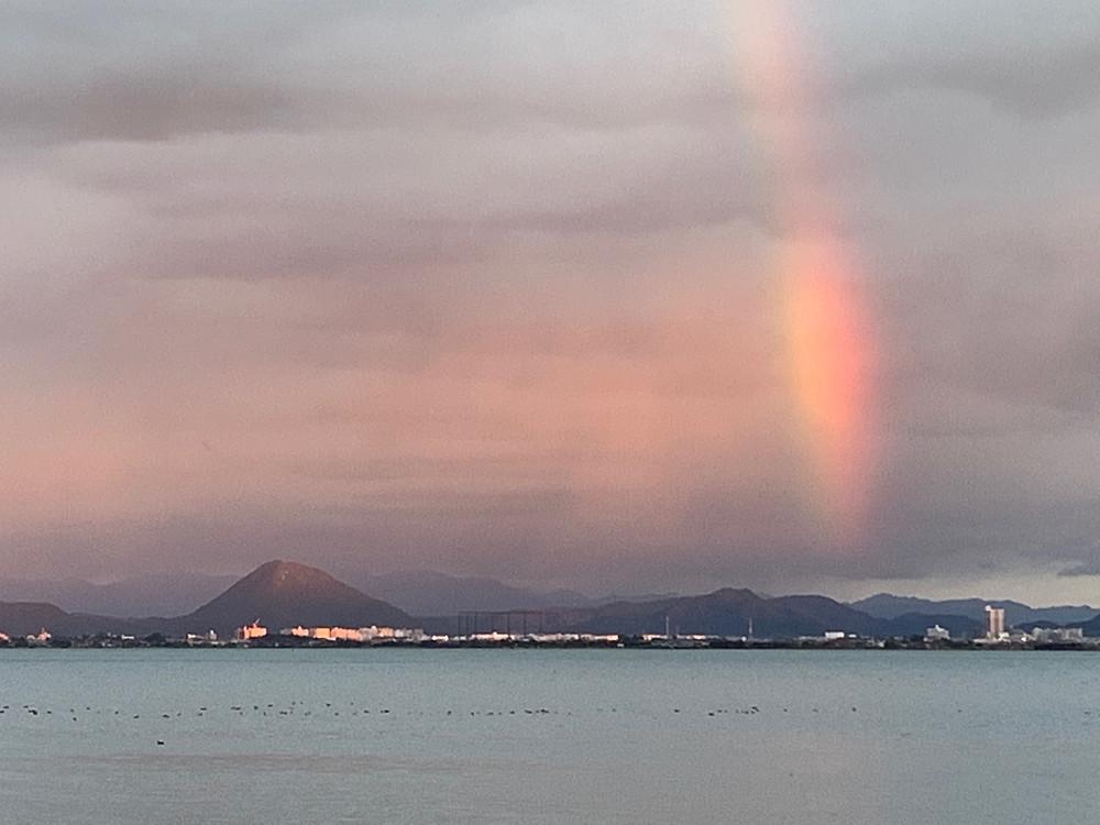 滋賀県旅行 びわ湖と虹 虹の県 琵琶湖
