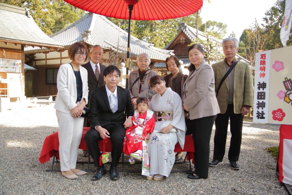 神田神社七五三 七五三家族写真 出張カメラマン滋賀