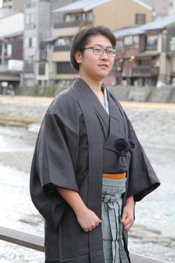 着物の思い出 袴撮影 男性着物 同行撮影 京都出張撮影
