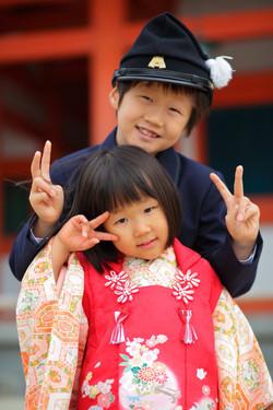 京都出張撮影 カメラマン同行撮影 家族写真 七五三