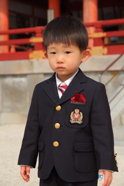 こども 記念撮影 記念写真 神社で撮影 京都撮影