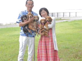 ペットとの家族写真