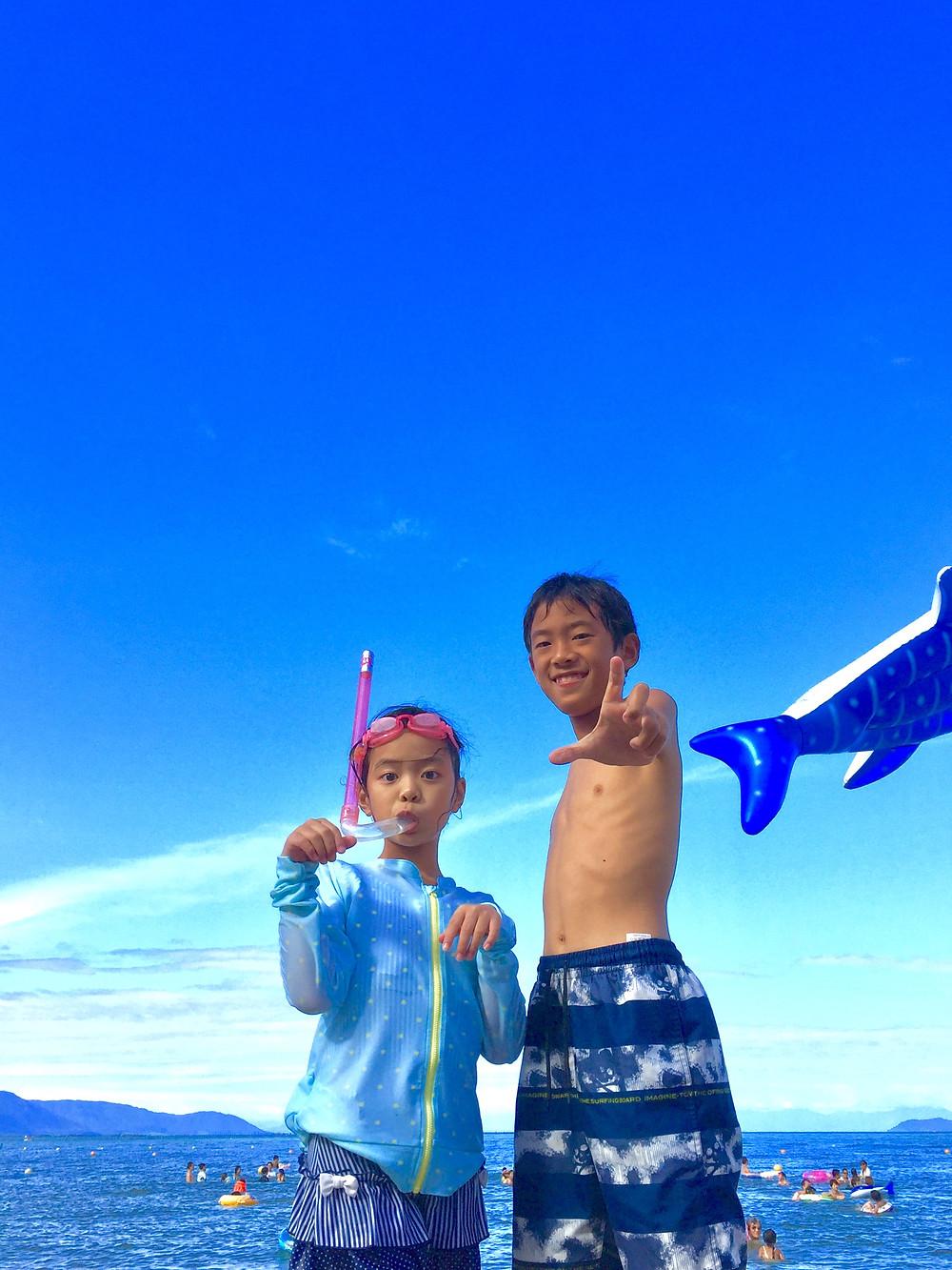 琵琶湖 家族写真撮影